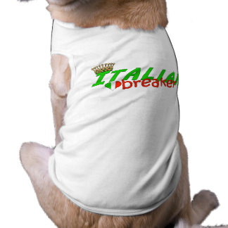Italian Heart Breaker With Crown Doggie Tee