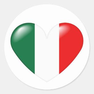 Italian heart sticker - Cuore Italiano