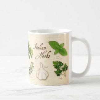 Italian Herbs, Basil, Oregano, Parsley, Garlic Classic White Coffee Mug