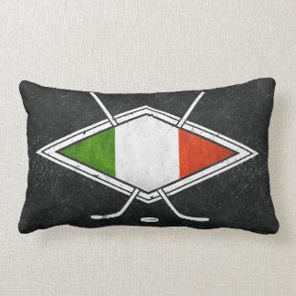 Italian Hockey Flag Logo Pillow