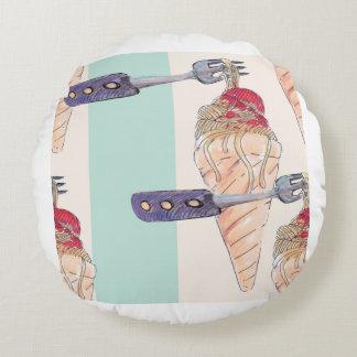 italian hoists cream round pillow