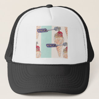 italian hoists cream trucker hat