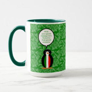 Italian Holiday Mr. Pengiun Mug