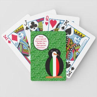 Italian Holiday Mr. Pengiun Poker Deck