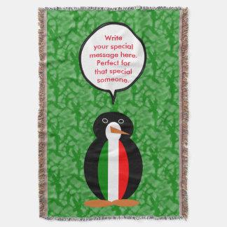 Italian Holiday Mr. Pengiun Throw Blanket
