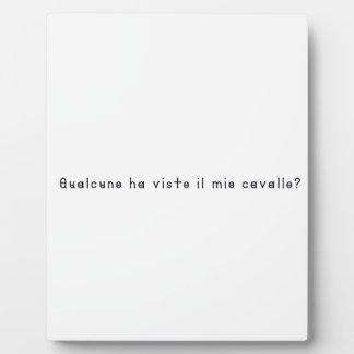 Italian-Horse Plaque
