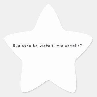 Italian-Horse Star Sticker