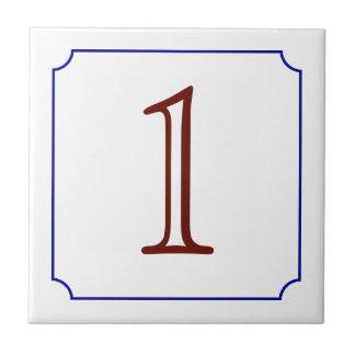 Italian House Number Tile