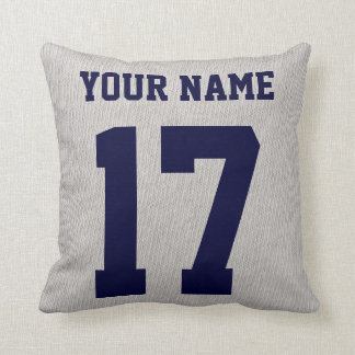 Italian Ice Hockey Pillow with Name and Number
