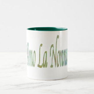 italian..iluvgrandma Two-Tone coffee mug