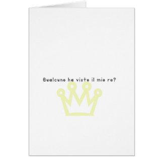 Italian-King Card