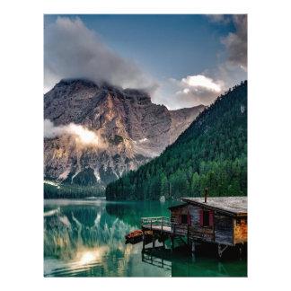 Italian Lake-Side Mountain Cabin Letterhead
