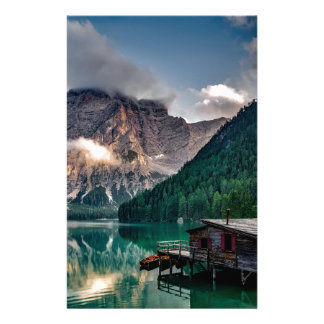 Italian Lake-Side Mountain Cabin Stationery