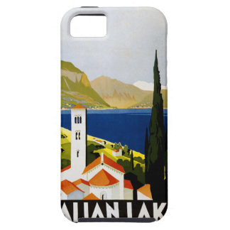 Italian Lakes Vintage Travel Poster Case For The iPhone 5