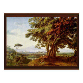 Italian Landscape By Hackert Jacob Philipp Postcard