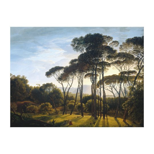 Italian Landscape with Stone Umbrella Pines Canvas