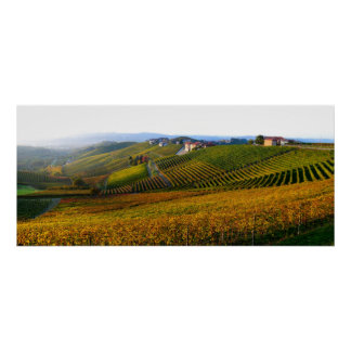 Italian Langhe hills poster
