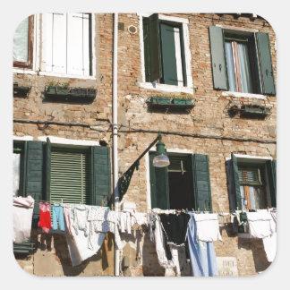 Italian Laundry Square Sticker