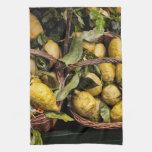Italian Lemons in a Basket Hand Towels