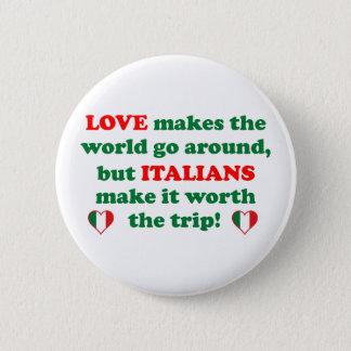 Italian Love 2 Inch Round Button