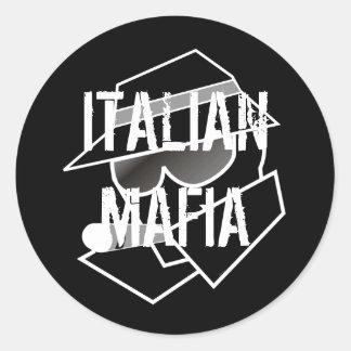 Italian Mafia Round Sticker