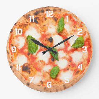 italian margherita pizza photo clocks