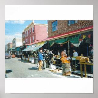 Italian Market in Philadelphia Poster