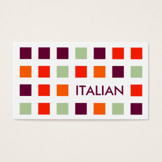 ITALIAN (mod squares) Business Card
