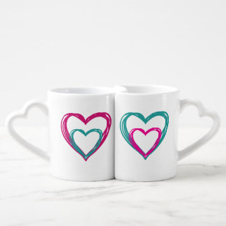 Italian Moka Coffee Mug Set