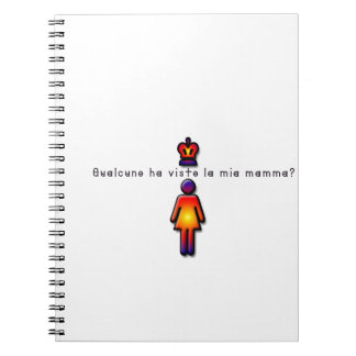 Italian-Mommy Spiral Notebook