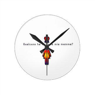 Italian-Mommy Wall Clock