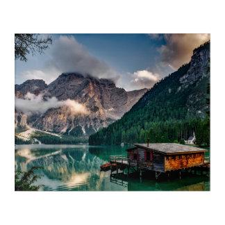 Italian Mountains Lake Landscape Photo Acrylic Print