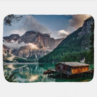 Italian Mountains Lake Landscape Photo Baby Blanket