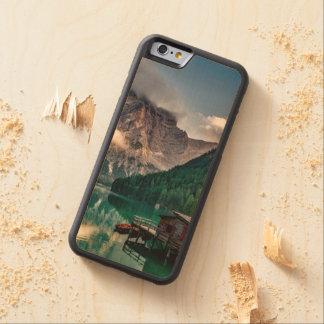 Italian Mountains Lake Landscape Photo Carved Maple iPhone 6 Bumper Case
