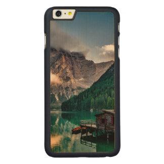 Italian Mountains Lake Landscape Photo Carved Maple iPhone 6 Plus Case
