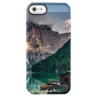 Italian Mountains Lake Landscape Photo Clear iPhone SE/5/5s Case