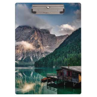 Italian Mountains Lake Landscape Photo Clipboards