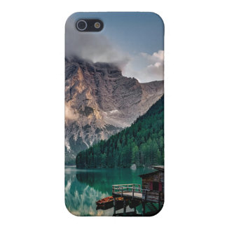 Italian Mountains Lake Landscape Photo Cover For iPhone 5/5S