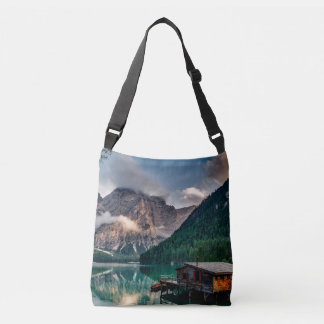 Italian Mountains Lake Landscape Photo Crossbody Bag