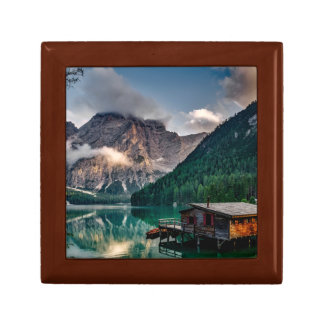 Italian Mountains Lake Landscape Photo Jewelry Boxes