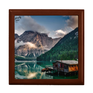 Italian Mountains Lake Landscape Photo Keepsake Box