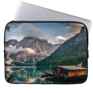 Italian Mountains Lake Landscape Photo Laptop Sleeve