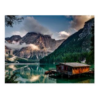 Italian Mountains Lake Landscape Photo Postcard