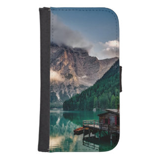 Italian Mountains Lake Landscape Photo Samsung S4 Wallet Case