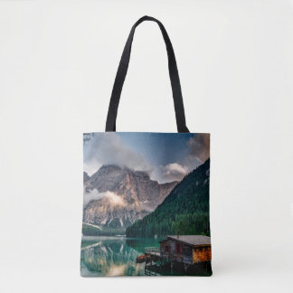 Italian Mountains Lake Landscape Photo Tote Bag