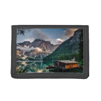 Italian Mountains Lake Landscape Photo Tri-fold Wallets