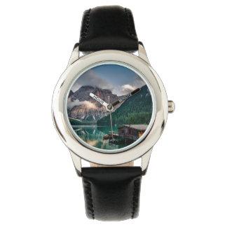 Italian Mountains Lake Landscape Photo Wrist Watch