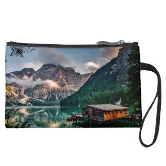 Italian Mountains Lake Landscape Photo Wristlets