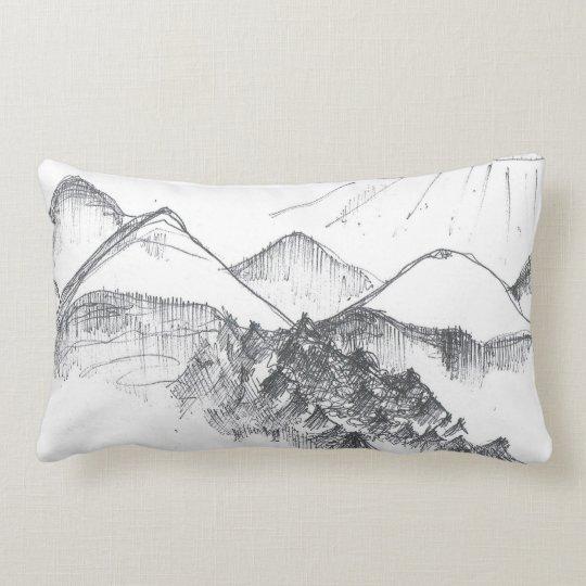 Italian Mountains Lumbar Pillow