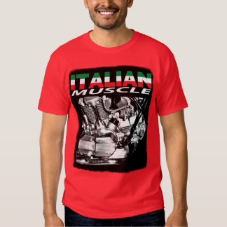 Italian muscle red t shirts